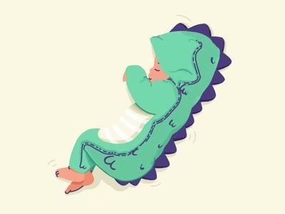 Baby Dino 👶🦕 dino pijam procreate study sketch modern minimal kids illustration icon drawing draw cute children baby