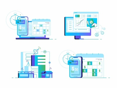 Illustrations And Icons connection icon set gradient landing page ui ux web mobile user team technology peoples design data coworking collaboration chat app 2d