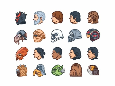 Star Wars Helmets Side View yoda villains superheroes stormtrooper star wars side view r2d2 mask icons force flat faces emoji set emoji droid darth vader cute colorful character 2d