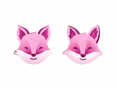 Pink Fox happy smile brand branding mark identity dream cute mascot character logo identity character sticker face cute design illustration vector draw emoji avatar mark animal yoga logo fox