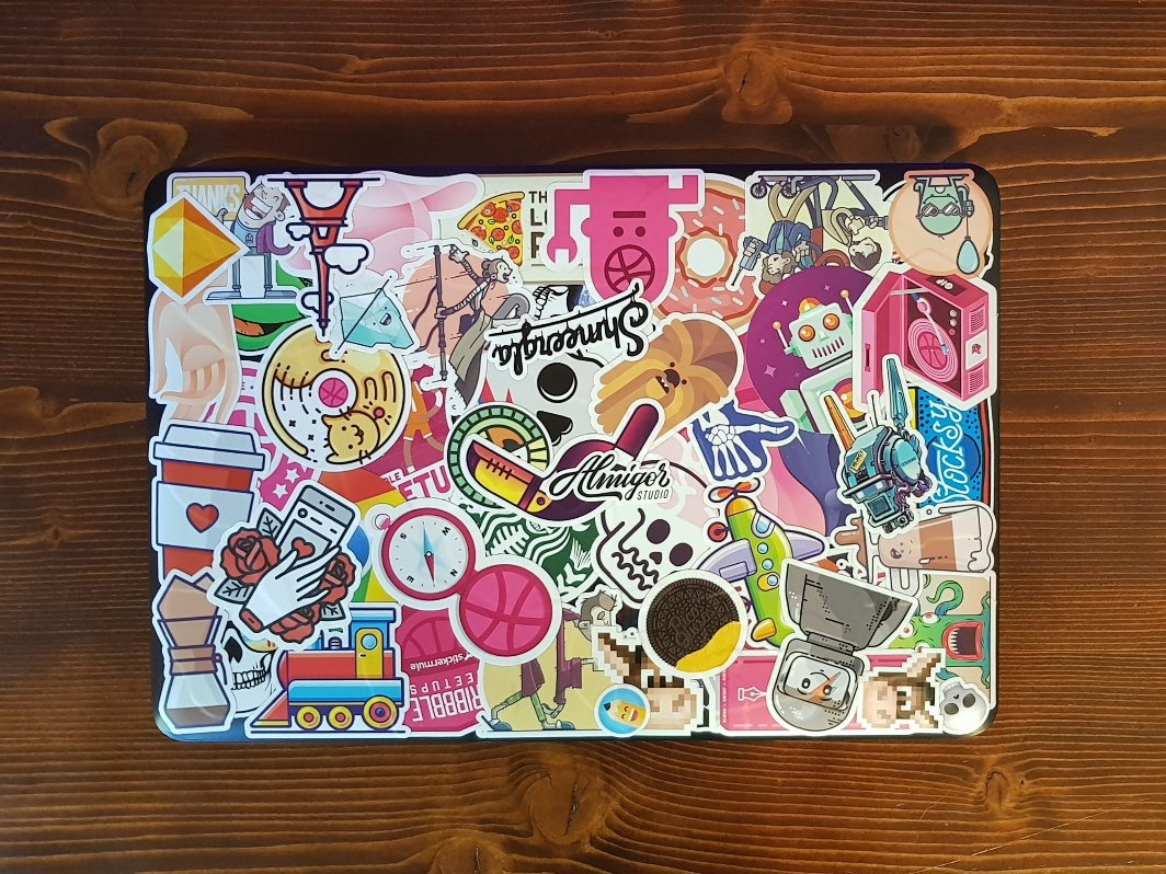 Asus Laptop like comment view love stamp custom stickers sticker mule playoff giveaway asus zombie walkingdead tmnt stickers starwars skull laptop illustration hand dribbble design beer
