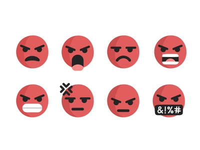 Angry Emoji 🤬 mood sticker chat face head cute wow sad reactions love lol like facebook app animation angry ios google emoji android