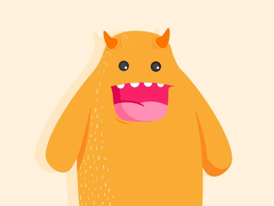 Orange Monster orange identity branding animation draw minimal vector toys sticker smile monsters mark illustrations fun flat design cute colors characters animals