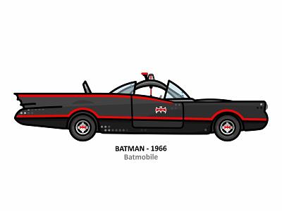 Batmobile movie superhero dc icon hero comic nostalgia vector illustration design line dots retro vintage vehicle the dark knight car batmobile batman 1966