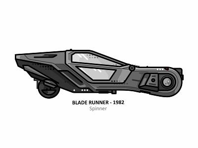 Blade Runner Spinner color weapon illustration fanart cyberpunk super car dots line rock vegas los angeles futuristic future dystopia city bridge car blade runner 2049