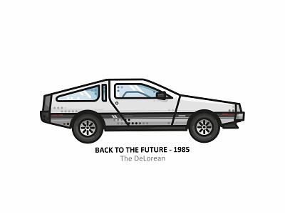 The Delorean fanart super car futuristic fast design dots line vector texture marty mcfly illustration icons gif future evolution delorean car back to the future