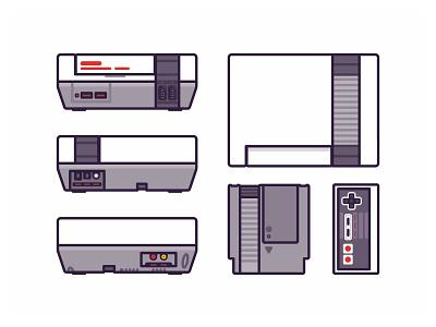 Nintendo NES fun time old game love videogame nes mini icon set outline retro nintendo switch nintendo nes icons gameboy consoles