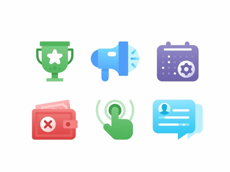 Icon Set No.1 icon system settings system outline members log out live monitoring landing page design icon interface interactions insight illustrations icon set icons asset iconography business project branding