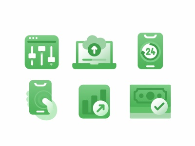 Icon Set No.6 settings project outline members log out monitoring live landing page interface interactions insight illustrations icon set icons iconography icon design icon business branding asset