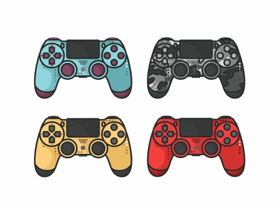 Ps4 Controller ps4 controller sony playstation retro joystick illustration gaming video gamepad game design controller 90s 80s