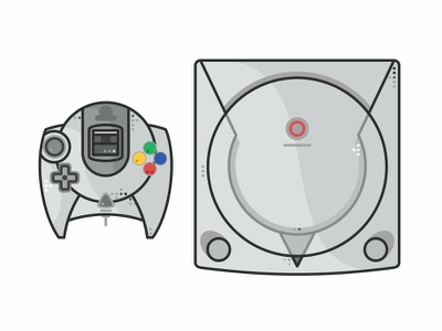 Sega Dreamcast time retro outline old nintendo switch nes mini nes love icon set icons game gameboy fun consoles video games snes nintendo illustration games