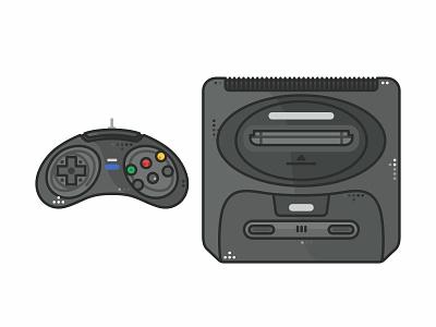 Sega sega video games time snes retro outline old nintendo switch nintendo nes mini nes love illustration icon set icons games gameboy game fun consoles