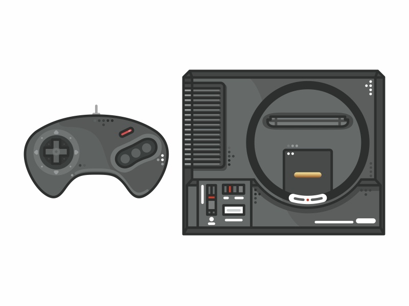 Sega Genesis sega video games time snes retro outline sega genesis nintendo switch nintendo nes mini nes love illustration icon set icons games gameboy game fun consoles