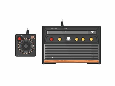 Atari Flashback 8 console vintage stickers retro nintendo joystick illustration video gaming game design arcade 90s 80s atari atari flashback 8