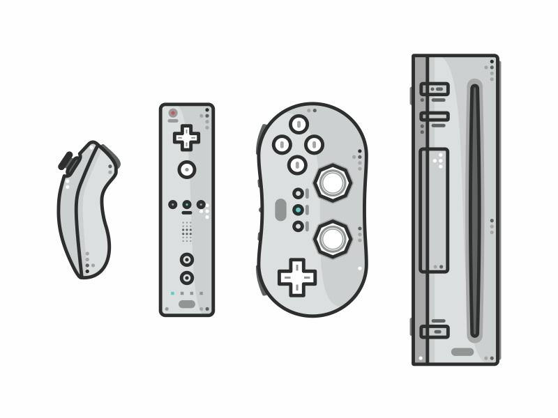 Wii design vectors super mario mario pokemon outline retro gaming controller wii game video snes nintendo nes n64 icon gamecube