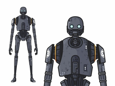 K-2SO death star rogue one k2so yoda villains superheroes stormtrooper star wars k-2so mask icons force faces emoji set droid darth vader cute colorful character 2d