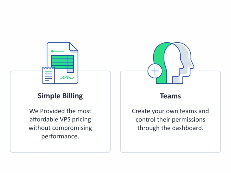 Billing and Teams paper documents world web design vps support servers security networking message line icon set outline design connection compute cloud chat teams billing