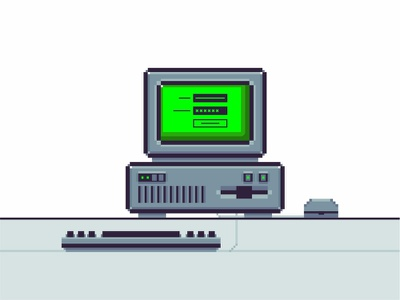 Pixel Computer log in password old school technology icon mac old computer simple screen retro pixel pc mouse minimal line keyboard illustration design graphic computer