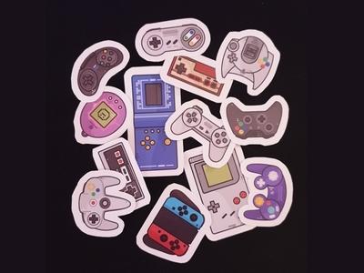 Retro Games sticker pack yoistic xbox videogame timagochi sony retro stickers outline old nintendo nes love icon set icons game boy game sale consoles comodor arcade