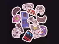 Retro Games sticker pack