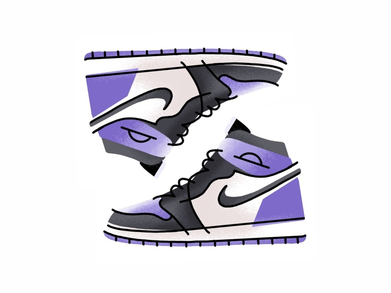 Nike Air Jordan I sneakers sport gradient style kicks trainer minimal lines icon fashion vector illustration design sneaker shoes jordan footwear air jordan nike nike air jordan i