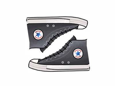 Converse All Star sneakers chuck taylor vector trainer sport sneaker shoes texture grit lines kicks converse illustration icon graphic gradient footwear fashion design converse all star