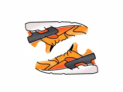 Nike Air Huarache sneakers trainer style sport sneaker shoes sneakerhead nike air nike lines kicks huarache illustration icon graphic gradient footwear fashion design nike air huarache