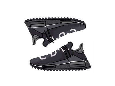 Adidas Pharrell Hu Nmd Trail sneakers vector trainer style sport sneaker shoes nmd pharrell lines kicks adidas pharrell hu nmd trail illustration icon classic gradient footwear superstar design adidas