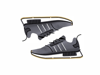 Adidas Nmd R1 texture superstar sport sneakers sneaker shoes procreate adidas nmd r1 illustration icon gradient footwear draw digital design color classic adidas