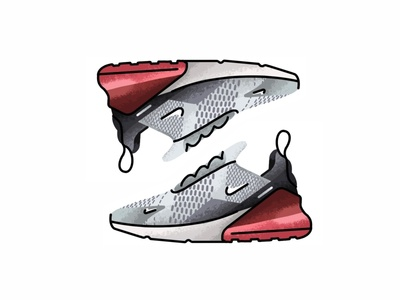 Nike Air Max 270 vector trainer style sport sneakers sneaker shoes nike air nike minimal lines kicks jordan illustration icon gradient footwear fashion design nike air max 270