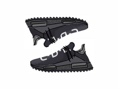 Nerd X Adidas Pharrell texture superstar sport sneakers sneaker shoes procreate line illustration icon gradient footwear adidas pharrell digital design pharrell adidas