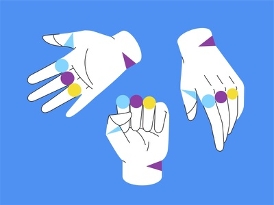 Hands ✊🤚🖐 symbol sketsh signal human abstract icon icon set lines geometry creative idea collaboration together objects hand vector hands flat design gesture