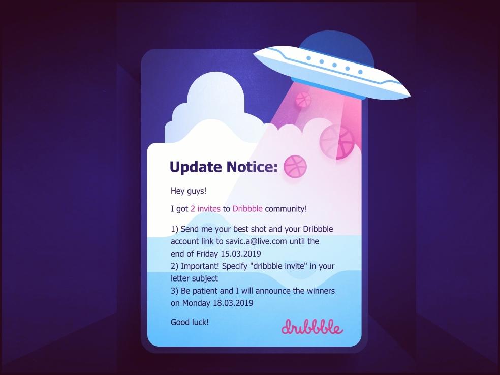 Dribbble Invite 🏀🏀 cute user interface design ux ui ball ufo space pink prospects identity logo member join invitation invite illustrative illustration giveaway dribbble player