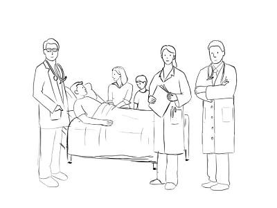 Doctors Sketch WIP nurse medical user healt draw sketch web ui ux texture team sign in register landing page ios illustration icons doctor character