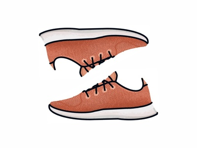 Allbirds Tree Runners brush run vector trainer style sport sneakers sneaker shoes nike minimal adidas illustration icon gradient footwear fashion design