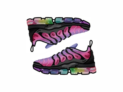 Nike Air Vapormax Plus Be True nike air vapormax plus be truev vector trainer style sport sneakers sneaker shoes run nike minimal illustration icon gradient footwear fashion design brush adidas