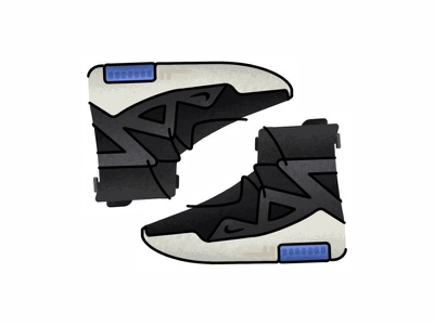 Nike Air Fear Of God 1 nike air fear of god 1 vector trainer style sport sneakers sneaker shoes run nike minimal illustration icon gradient footwear fashion design brush adidas