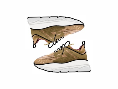 Versace Chain Reaction versace chain reaction yeezy vector trainer style sport sneakers sneaker shoes run nike minimal illustration icon gradient footwear fashion design brush adidas