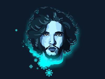 Jon Snow!! Winter is coming!! winterfell stark wolf winter stroke playoff love line jon snow illustration got8 got game of thrones game of heads character