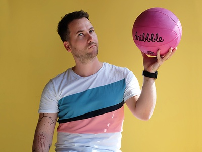 Dribbble Profile illustration design studio community meetup dribbblemeetup swag neopix pink basketball 100k ball search research profile player creative direction character dribbble