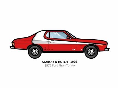1976 Ford Gran Torino red starsky and hutch retro outline movie line illustration iconic lamborghini ferrari famous dots 1976 ford gran torino design car automobile 80 1980s