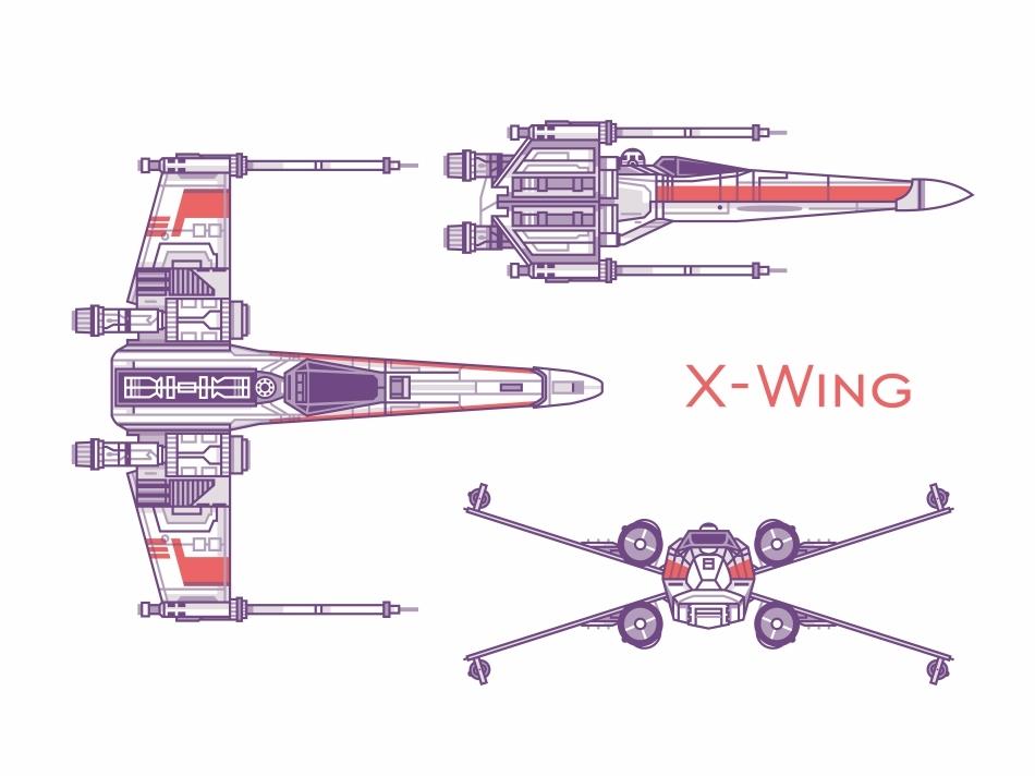 X-Wing by Aleksandar Savic on Dribbble on