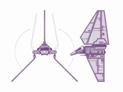 Lambda Class T-4a Shuttle yoda stormtrooper r2d2 outline icons force fly fleet droid darth vader star wars spaceship may the fourth lambda shuttle lambda shuttle imperial illustration