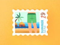 On the Beach Postmark
