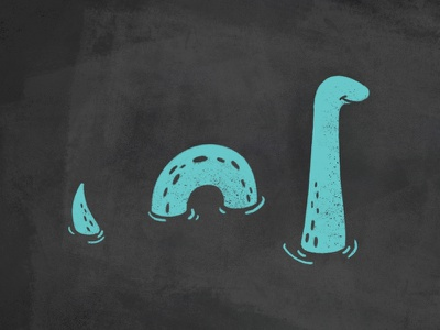 Loch Ness Monster nessie mythical scottish highlands monster texture style sketch procreate pencil ipad illustration icon water draw loch ness doodle cute character brush
