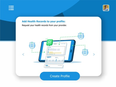 Add Records visualization user ui ux settings monitoring system monitor message medical laptop interface hospital health records health files data create profile animation