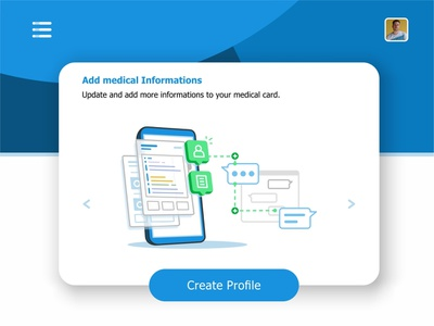 Add Info phone visualization user ui ux settings monitoring system monitor message medical laptop interface hospital health records health files data create profile animation