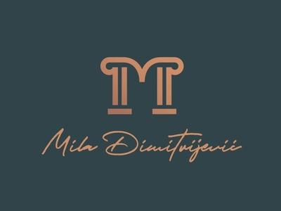 Md Logo md type text symbol personal monogram d m mark logomark logo letter identity icon dark custom contrast branding graphic brand identity