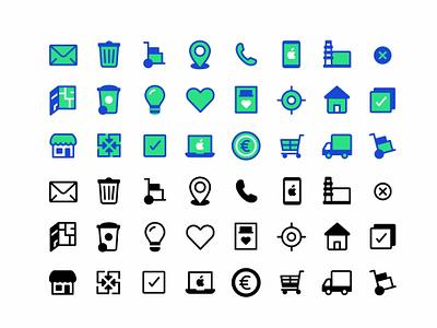 Small Icons simple modern symbol mark iconset icons iconography icon app folder camera calender icon set website ui ux logo ios illustration icon branding
