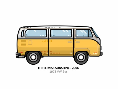 1978 VW Bus hollywood iconic car outline automobile car auto vector dots illustration travel classic yellow vw volkswagen van sunshine movie minibus